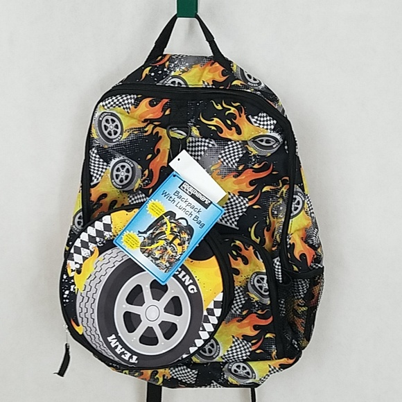 8b2be81ea3 Brand new Kids Backpack with Lunch bag racing